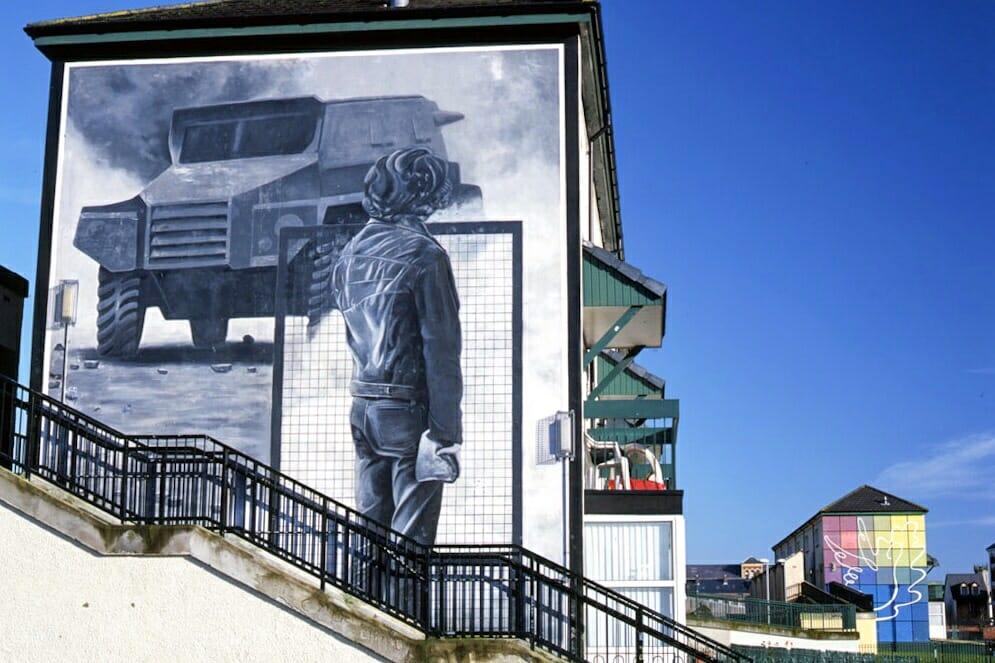 Bogside Artists Murals Derry Northern Ireland Ulster Londonderry