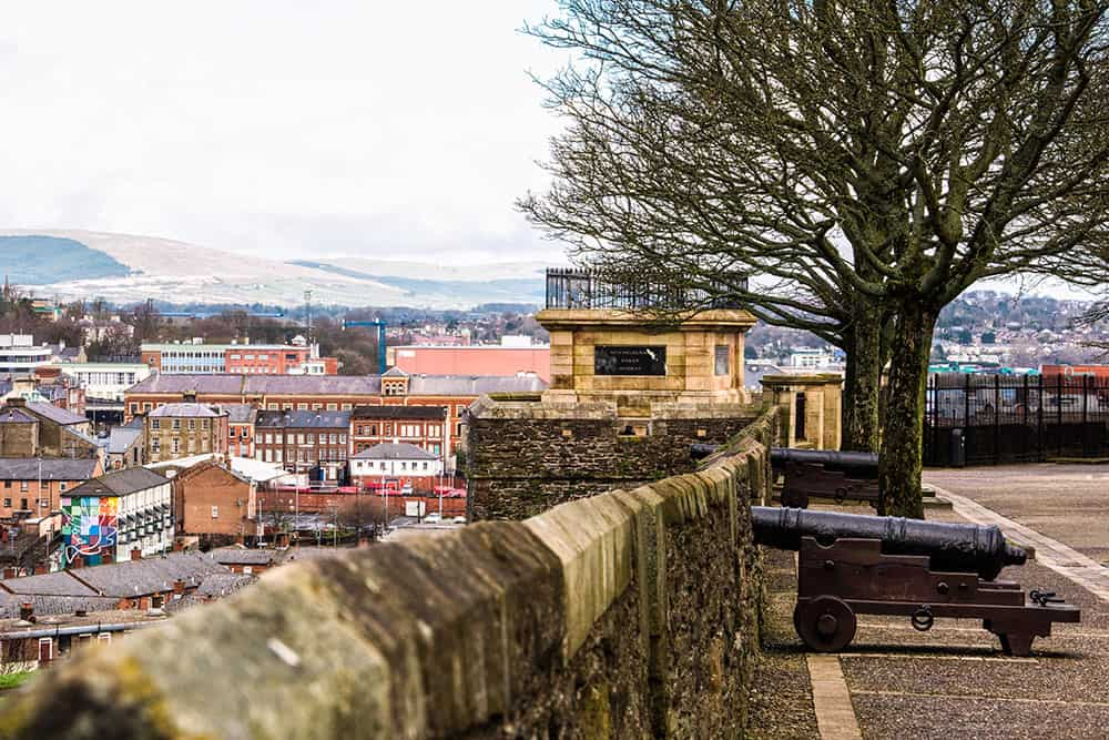 Bogside Derry City Walls Northern Ireland Ulster Londonderry