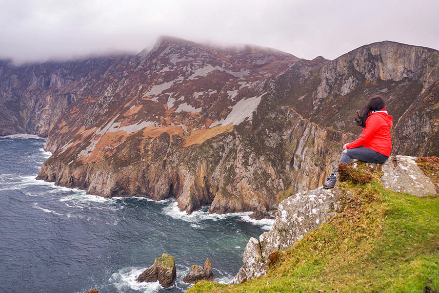 Slieve League cliffs along the Wild Atlantic Way in Donegal, Ireland