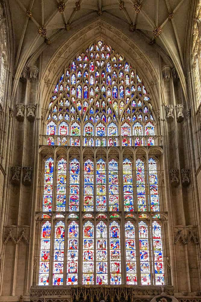 Big medieval stained glass window